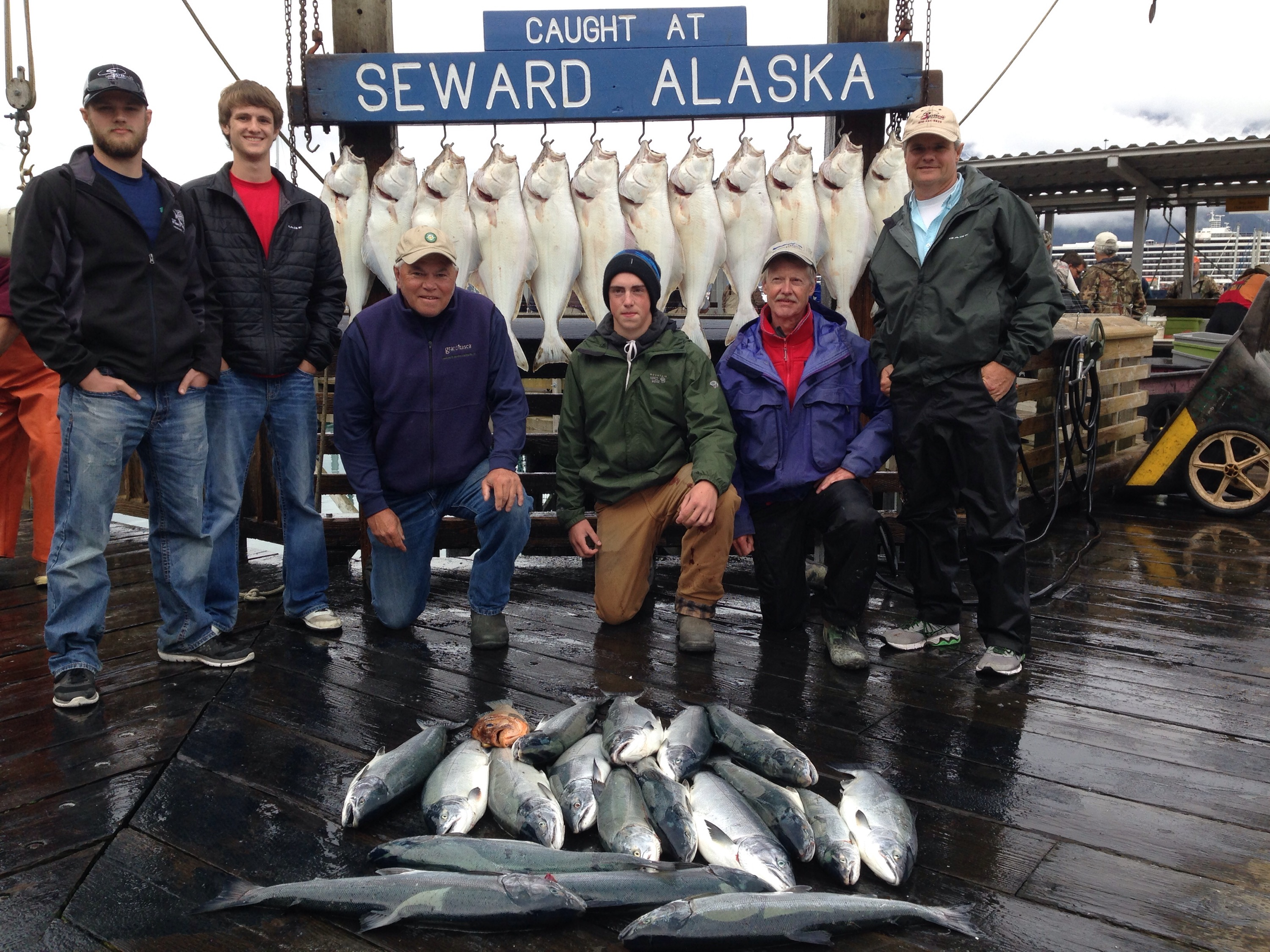 Halibut and salmon combo charter report for Seward fishing charters